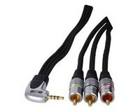 HQ Audio/Video Aansluitkabel 1.5m (3.5mm 4 pin - 3 RCA male) HQSS2537/1.5