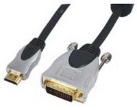 HQ HDMI - DVI videokabel 1.5m Goldplated (HDMI male - DVI male) (HQSS5551/1.5)