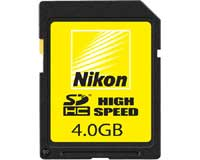 Nikon SDHC 4Gb High Speed