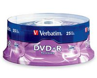 Verbatim DVD+R 4.7Gb 16X 25 Pack Spindel