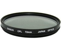 Zeikos Circular Polarizer (Variable Contrast Control/Glare Reduction) Filter 72mm