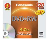 Panasonic LM-UF120LE5 DVD+RW 4.7Gb (5 pack)