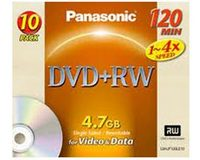 Panasonic LM-UF120LE10 DVD+RW 4.7Gb (10 pack)