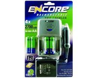 Encore Snellader with 4pk AA (2700 mAh) + Auto Charger