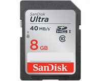 Sandisk Ultra SDHC 8GB 40MB/S Class 10